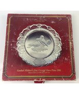 Vintage Goebel 1981 'Mother's Day' Crystal Glass Plate - $14.84