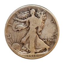 1916 D Walking Liberty Half Dollar - VG / Very Good - $77.45