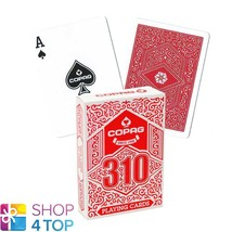 COPAG 310 POKER PLAYING CARDS DECK PAPER JUMBO INDEX RED NEW - $7.51