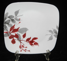 2 CORELLE KYOTO LEAVES LUNCHEON PLATES CORNING SQUARE NEW - $16.82
