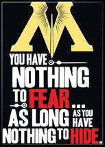 Harry Potter Minster of Magic Saying Nothing to Fear Refrigerator Magnet... - $3.95