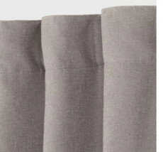 "Threshold Aruba Blackout Curtain SINGLE Panel | Gray Stone Linen | 50"" x... - $22.80"