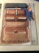 Original 1963 Full Size Buick Sales Brochure ~ Color ~ Oem - - $11.10