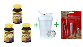 Nature Made Multi For Her Tablets 90 CT (Pack of 3) + Shaker Bottle asso... - $69.15