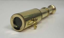 Handheld Brass Telescope  Pocket Sized Scope  Nautical Decor Toy - $4.99