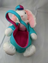Nylon Rabbit Easter Basket Bunny Stuffed Animal Toy - $26.95