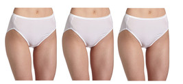 Vanity Fair Women's Illumination Brief Panty 13810/13108 3 Pairs White S... - $19.95