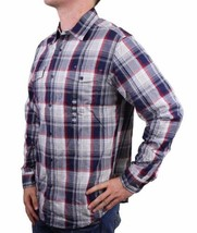 NEW MEN'S DOCKERS CLASSIC FIT CASUAL WOVEN FLANNEL SHIRT PEACOAT 8BW27LK image 2