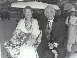 Gene Barry w/ wife -  professional celebrity photo 1987 - $6.85
