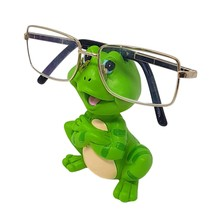 FROG GLASSES SPECTACLES HOLDER STAND HAND MADE PAINTED CHRISTMAS BIRTHDAY - $21.74