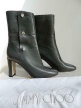 Jimmy Choo Dayno Boots High Heel Gray Leather Side Snaps NIB $1425 39.5 RR - $367.50