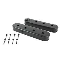 LSX LS1 LS3 LS6 Fabricated Aluminum Valve Covers Black GM Chevy - No Coil Mounts