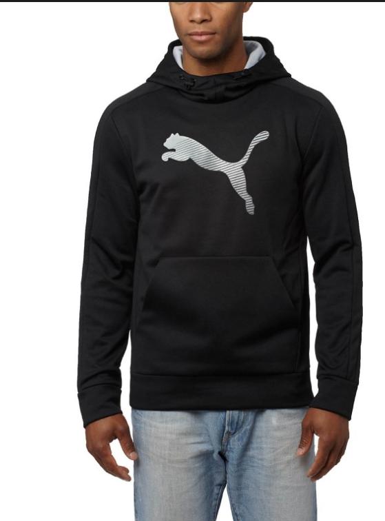 Puma Men's Striker Tec  Warmcell Black Pullover Hoodie - S