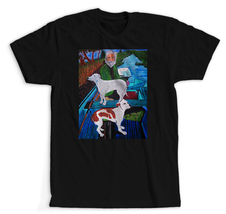 Goodfellas Painting Old Man with Two Dogs - Adult T-shirts - $17.57+