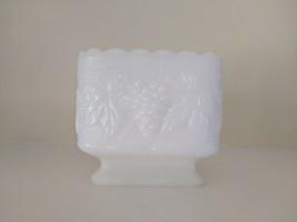 1950s Milk Glass Vase Planter Colony Harvest Grape Pattern Mid Century D... - $25.00