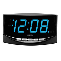 SHARP Easy to See Alarm Clock with Jumbo 2 Numbers - Bright Blue LED Dis... - $31.99