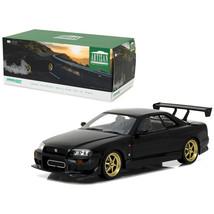 1999 Nissan Skyline GT-R (R34) Black 1/18 Diecast Model Car by Greenligh... - $71.41