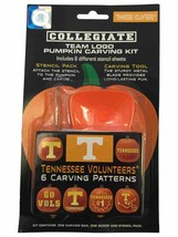 Tennessee Volunteers Team Color Logo Pumpkin Carving Kit 6 Stencil Patte... - $10.24