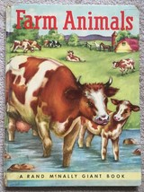 Farm Animals  Rand McNally GIANT Book By Anna Ratzesberger (Hardcover 1952) - $9.50