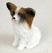 PAPILLON BROWN WHITE TINY ONES DOG Figurine Statue Resin Pet Lovers - $9.99