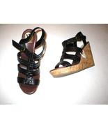 New Womens 11 DV Dolce Vita Sandals Gladiator Black Wedge Shoes Heels Bu... - $43.60