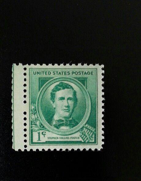 1940 1c Stephen Collins Foster, American Music Artist Scott 879 Mint F/VF NH