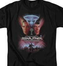 Star Trek The Final Frontier Retro 80s Sci-Fi Kirk  Spock graphic tee CBS523 image 3