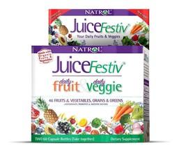 Natrol Juicefestiv Capsules Daily Fruit And Veggie Juice Festiv 120 Ct P... - $23.95