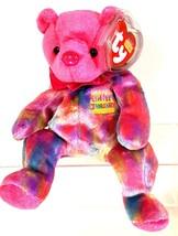 THE BIRTHDAY BEANIES COLLECTIONS 2001 JANUARY/GARNET TY Beanie Baby Bear... - $9.85