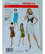 Simplicity 1012 Womens 60's Vintage Dress Sewing Pattern Size AA 10-18 - $13.00