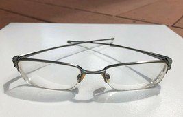 Nice Oakley Valve Half Rim Chrome Eyeglasses Frames OX 3093 0253 / 53-18 135 - $27.83