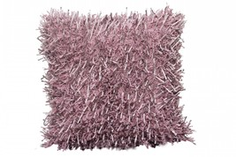 Shaggy cushion cover (set of 2) pink pillow case - $24.00