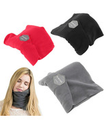 Neck Travel Pillow No Inflatable Textile Head Support Portable Airplane ... - $19.99