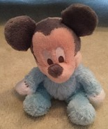 "Disney Parks 10"" Fuzzy Blue Mickey Mouse Plush Rattle Baby Chime Bell Di... - $15.83"