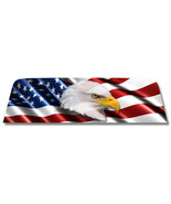 Eagle / American Flag - Window Perf Rear Window Graphic Decal Truck suv ... - $79.20+