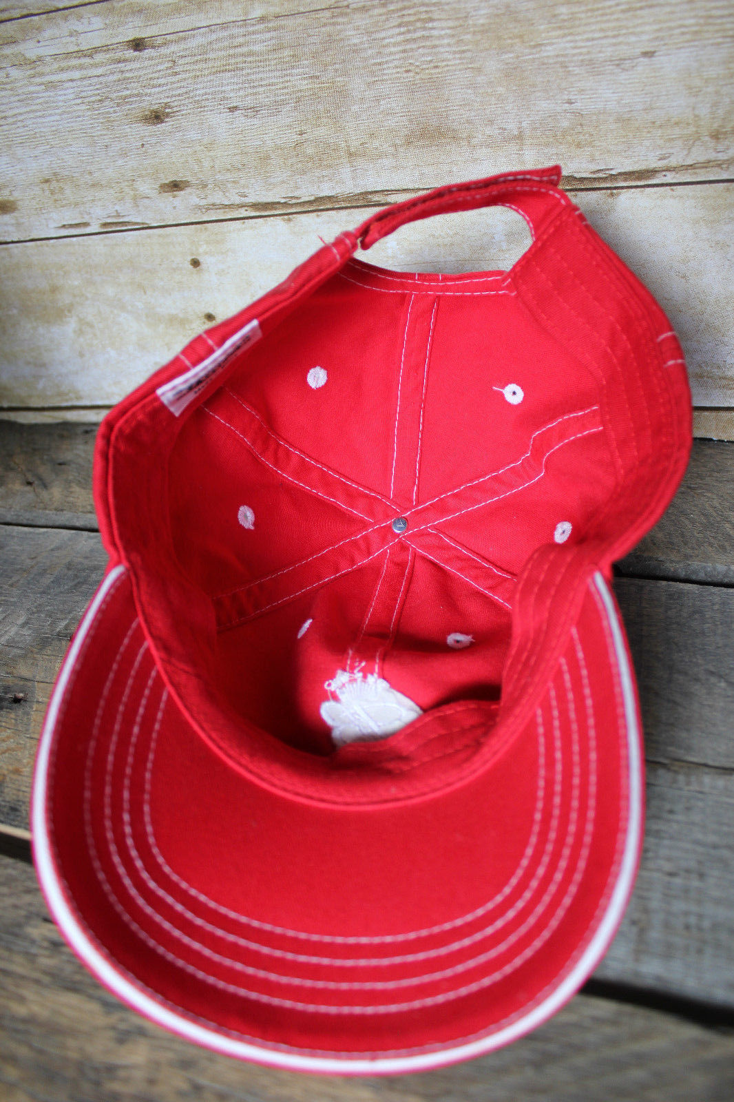Budweiser Embroidered Hat Red Adjustable Ball Cap Fresh Bud King of Beer Crown