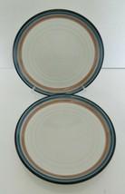 Noritake Stoneware Timberlake Two Luncheon Salad Plates Made in Japan #8689 - $19.68