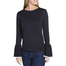 Tommy Hilfiger Casual Bell Sleeve Lightweight Pullover Colorblock Sweater, Black - $33.00