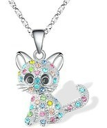 Kitty Cat Pendant Necklace Jewelry Women Girls Kids Cat Lover Gifts Daug... - $36.28