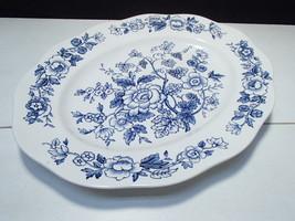 "1 Lrg Windermere Vintage Wedgwood China Oval Platter ~ Blue & White ~ 14+"" - $69.95"