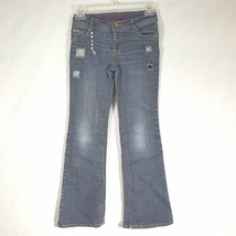 Hannah Montana Jeans Size 8 Girls Distressed Bootcut N2 - $8.41