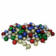 NORTHLIGHT 96ct Shatterproof Multi-Color Shiny & Matte Christmas Ornaments - $23.95
