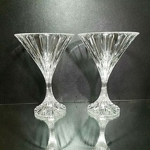 2 (Two) MIKASA PARK LANE Cut Lead Crystal Martini Glasses - $56.04