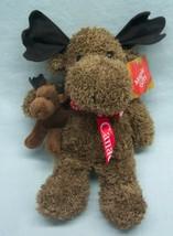 "Maple Gifts CANADA SOUVENIR MOOSE W/ BABY 11"" Plush Soft STUFFED ANIMAL ... - $16.34"