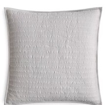 NWT Hudson Park Bellance Silver Quilted EURO Pillow Sham MSRP $125 - £17.60 GBP