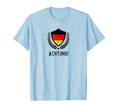 New Shirts - Funny Germany News Shirt National Colors Achtung Men - $19.95+