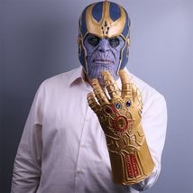 2018 Infinity War Thanos Mask Infinity Gauntlet Glove The Avengers - $26.33 CAD+