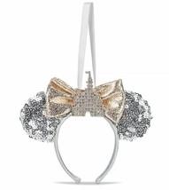 Disney Parks Minnie Mouse Fantasyland Castle Ear Headband Ornament - Silver - $28.66
