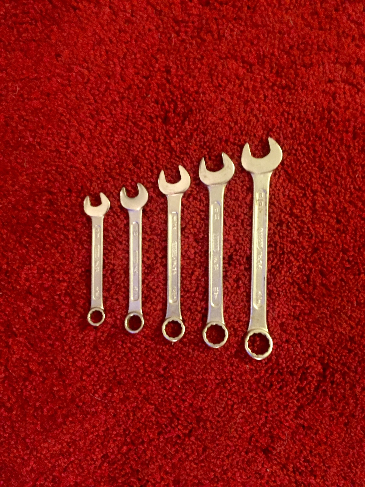 Vintage Gedore NO14 5 pc wrench set - like new