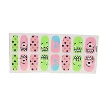 [Set of 2]Easily Apply 12 PCS Artificial Nail Polish Sticker,Little Monster